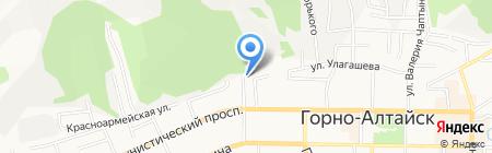 Министерство труда и социального развития Республики Алтай на карте Горно-Алтайска