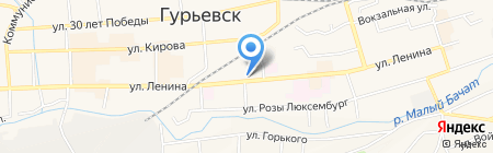 Мальвина на карте Гурьевска