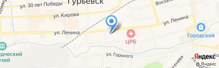 Средняя общеобразовательная школа №11 на карте Гурьевска