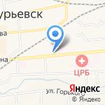 Перекат на карте Гурьевска