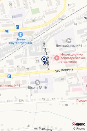 АПТЕКА СЕМЕЙНАЯ на карте Гурьевска