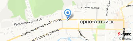 Родник на карте Горно-Алтайска