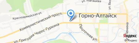 Ректайм на карте Горно-Алтайска