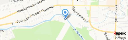 Космос на карте Горно-Алтайска