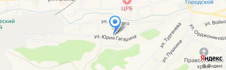 Семёрочка на карте Гурьевска