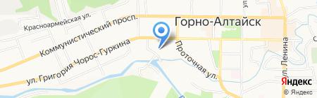 РосНОУ на карте Горно-Алтайска