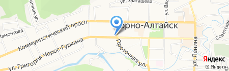 Коммунистическая Партия Российской Федерации на карте Горно-Алтайска
