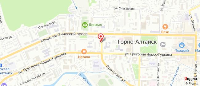 Карта расположения пункта доставки Билайн в городе Горно-Алтайск