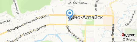 Профессиональное училище №84 на карте Горно-Алтайска