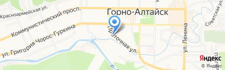 Полярная звезда на карте Горно-Алтайска