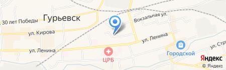 Нотариус Григорян С.Г. на карте Гурьевска