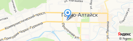 Нега на карте Горно-Алтайска