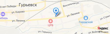 ЗимаЛето на карте Гурьевска