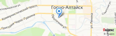 Вероника на карте Горно-Алтайска