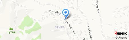 Туу-Кайа на карте Горно-Алтайска