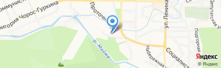 Баня №1 на карте Горно-Алтайска