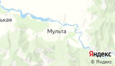 Частный сектор города Мульта на карте