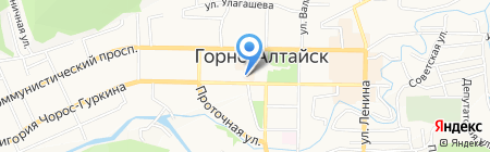 Управление Судебного департамента в Республике Алтай на карте Горно-Алтайска