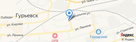Флора на карте Гурьевска
