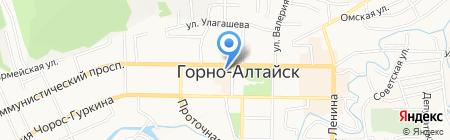 Дивиzион на карте Горно-Алтайска