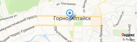 Бульвар на карте Горно-Алтайска