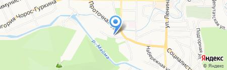 Отдел Военного комиссариата Республики Алтай по г. Горно-Алтайску на карте Горно-Алтайска