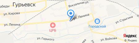 Городской Клуб горняков на карте Гурьевска
