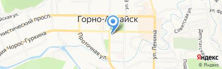 Национальный банк Республики Алтай банка России на карте Горно-Алтайска