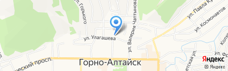 Улагашева 4 на карте Горно-Алтайска