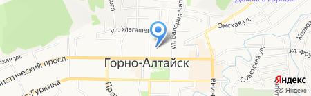 Национальный драматический театр им. П.В. Кучияк на карте Горно-Алтайска