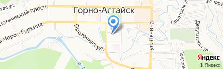 Школьник на карте Горно-Алтайска
