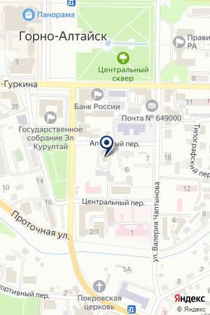 ГАРАЖ УПРАВЛЕНИЕ ФЕДЕРАЛЬНОГО АГЕНТСТВА КАДАСТРА ОБЪЕКТОВ НЕДВИЖИМОСТИ ПО РЕСПУБЛИКЕ АЛТАЙ на карте Горно-Алтайска