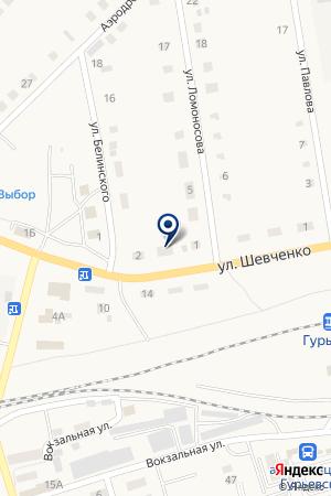 ПРОДОВОЛЬСТВЕННЫЙ МАГАЗИН ПЯТАК на карте Гурьевска