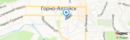 Детский сад №5 на карте Горно-Алтайска