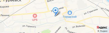 Гурьевское государственное ПАТП Кемеровской области на карте Гурьевска