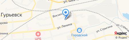 Женская консультация на карте Гурьевска