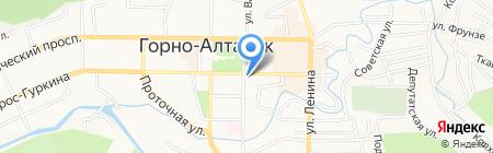 Камея на карте Горно-Алтайска