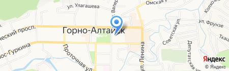 Управление по обеспечению деятельности Правительства Республики Алтай на карте Горно-Алтайска