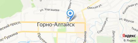 Чарпи на карте Горно-Алтайска