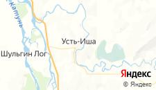 Отели города Усть-Иша на карте