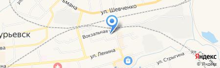 Пион на карте Гурьевска