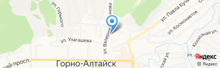 Койонок на карте Горно-Алтайска