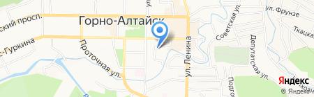 МТС на карте Горно-Алтайска