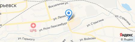 Мастерская по ремонту обуви на карте Гурьевска