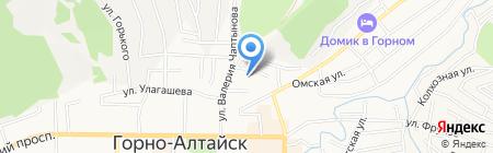 Детский сад №8 на карте Горно-Алтайска