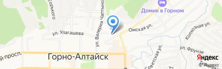 Управление социальной поддержки населения г. Горно-Алтайска на карте Горно-Алтайска