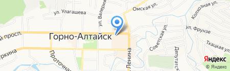 Селянка на карте Горно-Алтайска