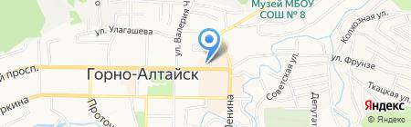 Сёстры Алтая на карте Горно-Алтайска