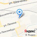 Магнит-Косметик на карте Гурьевска