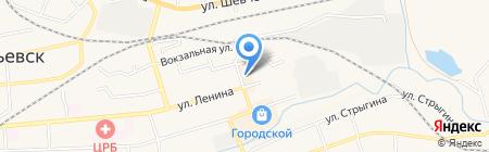 Магазин женской одежды на карте Гурьевска